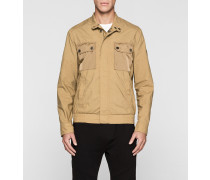 Jacke aus Materialgemisch