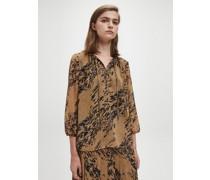 Bluse mit Bindedetail und Leoparden-Print