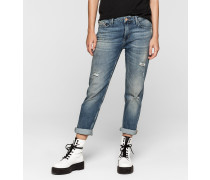 Mid-Rise Slim Boyfriend-Jeans