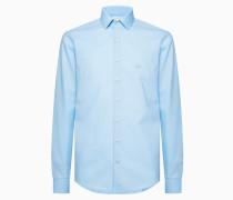 Schmales Hemd aus Stretch-Popeline