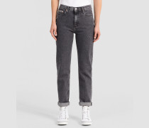 High-Rise Straight-Ankle-Jeans