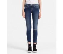 Knöchellange Mid-Rise Skinny-Jeans