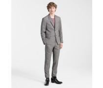Karierter Anzug aus Schurwolle