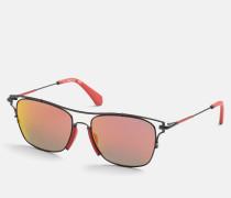 Rechteckige Sonnenbrille CKJ166S