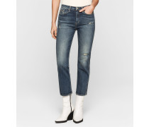 High-Rise Straight-Cropped-Jeans