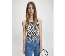 Cami-Top mit Zebra-Print