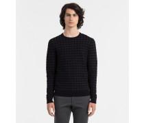 Karierter Pullover aus Wolle-Baumwollgemisch