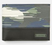 Lederportemonnaie in Camouflage-Optik