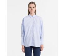 Boxy-Hemd aus Baumwoll-Popeline