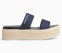 Plateau-Sandalen aus Denim