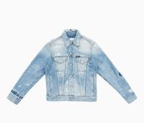 Jeansjacke mit Destroyed-Effekten