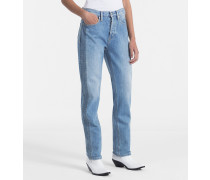 High-Rise Straight-Jeans