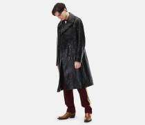 Zweireiher-Mantel aus Leder