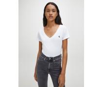 Slim T-Shirt mit V-Ausschnitt aus Bio-Baumwolle