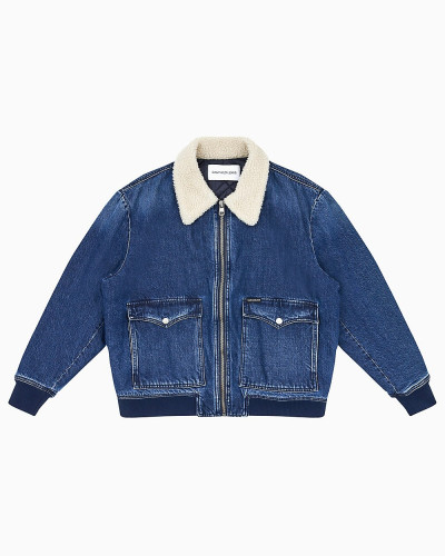 Denim-Bomberjacke