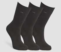 3er-Pack Roll-Top-Socken