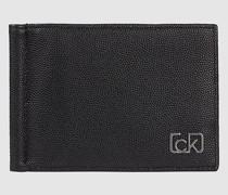 Portemonnaie mit Geldscheinklammer und RFID-Schutz
