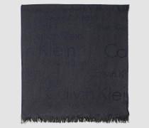 Logo-Schal aus Wollgemisch