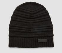 Gestreifte Mütze aus Wollgemisch