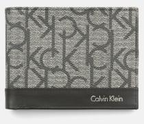 Zweifach faltbares Portemonnaie mit Logo