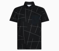 Relaxtes Poloshirt mit Allover Logo