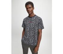 Relaxtes T-Shirt mit durchgehendem Print