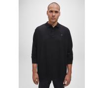 Langarm-Poloshirt in Plus-Size