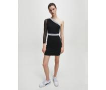 Einschultriges Kleid aus Milano-Jersey