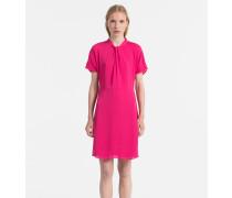 Kurzärmliges Chiffon-Kleid