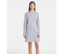 Hemdkleid aus Baumwoll-Satin