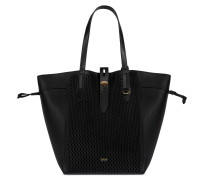 Net Schwarz Shopper-Tasche