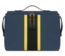 Man Icaro Messenger-Tasche L Blu Denim C