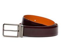 Verstellbarer Herrengürtel aus rotem Leder im Antik-Look