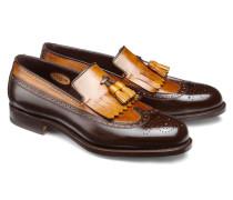 Loafer aus Leder mit Fransen