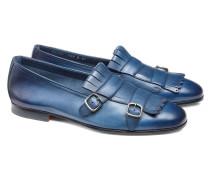 Loafer aus Leder mit Maxi-Fransen