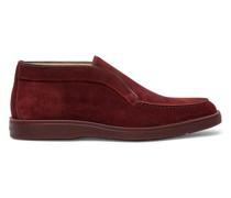 Rote Desert Boots für Herren aus Veloursleder