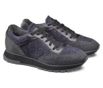 Niedriger Sneaker aus Wolle und Stoff
