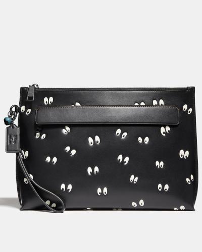 Coach Herren Disney X Weekender Beutel mit unheimliche Augen-Print 2018 Online-Verkauf Niedriger Preis Versandkosten Für Online-Verkauf IMX0A