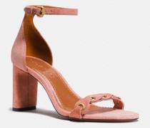 High Heel Sandale mit Gliederweboptik
