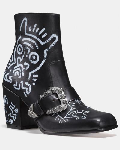 Erhalten Authentisch Coach Damen X Keith Haring Western-Bikerstiefelette 100% Original Online-Verkauf Original MOyre