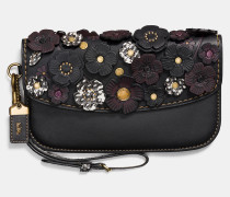 "Clutch aus Schlangenleder im feinen Tea Rose""-Design"