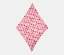 Oversize-Schal mit Plissee, verträumtem Band-Print und Rauten