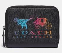 Kleines Portemonnaie mit Rundumreißverschluss und Rexy- und Kutschenmotiv