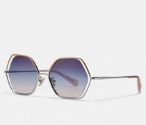 Wire Frame Hexagon Sunglasses