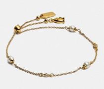 Klassisches Armband mit Schiebeverschluss und Kristallperlen