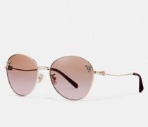 "Ovale Sonnenbrille im Tea Rose""-Design"