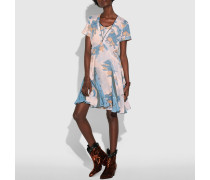Kleid mit verträumtem Blumen-Print und Falten