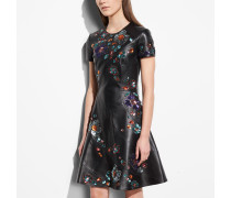 Circle Dress With Leather Sequins