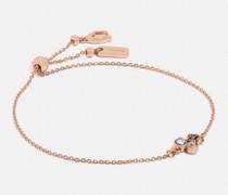 Armband mit Schiebeverschluss und kleinem Teerosen-Cluster