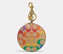Coin Case Bag Charm In Rainbow Signature Canvas